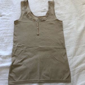 Tan tank with lace outline from The Limited